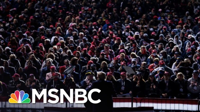 Huge Trump Rally Violated Iowa And White House Covid-19 Guidelines | The 11th Hour | MSNBC 1