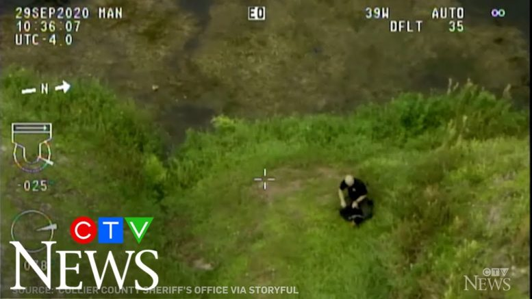Florida deputy pursues suspect in canal after car pursuit 1