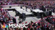 President Donald Trump Holds Packed Iowa Rally Despite WH Advisory | Morning Joe | MSNBC 3