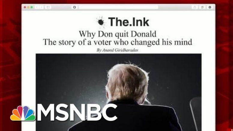 Why One Senior Voter Changed His Mind On Trump | Morning Joe | MSNBC 1