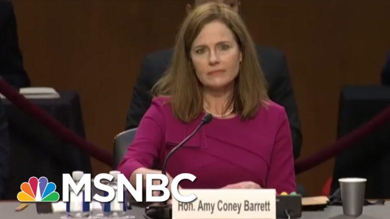 Notre Dame Faculty Sign Open Letter Urging Judge Barrett To Halt Her Nomination | MSNBC 1