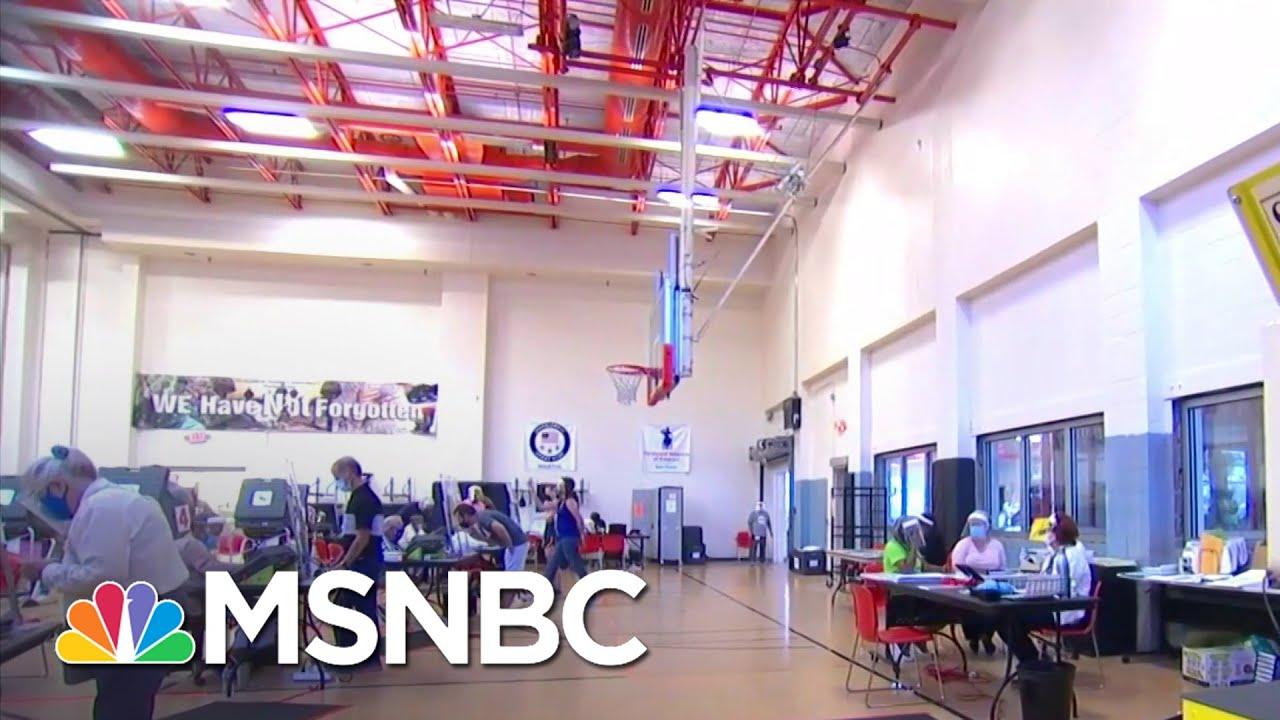 Fed. Court Rules Against GOP Suit To Limit Drive-Thru Voting | Katy Tur | MSNBC 1
