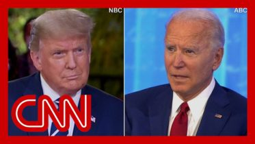 CNN reporter fact-checks dueling town halls in 3 minutes 6