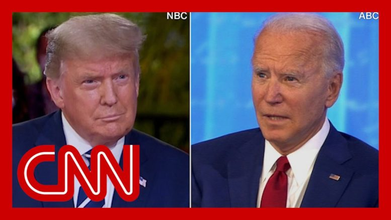 CNN reporter fact-checks dueling town halls in 3 minutes 1