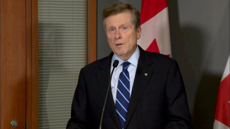 Toronto is at a 'tipping point' with ongoing COVID-19 case surge warns Mayor Tory 1