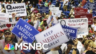 Trump Fuels Range Of Conspiracy Theories With Town Hall Answers | Rachel Maddow | MSNBC 10