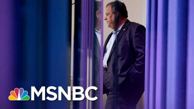 Chris Christie Speaks Out About Not Wearing A Mask | Morning Joe | MSNBC 1