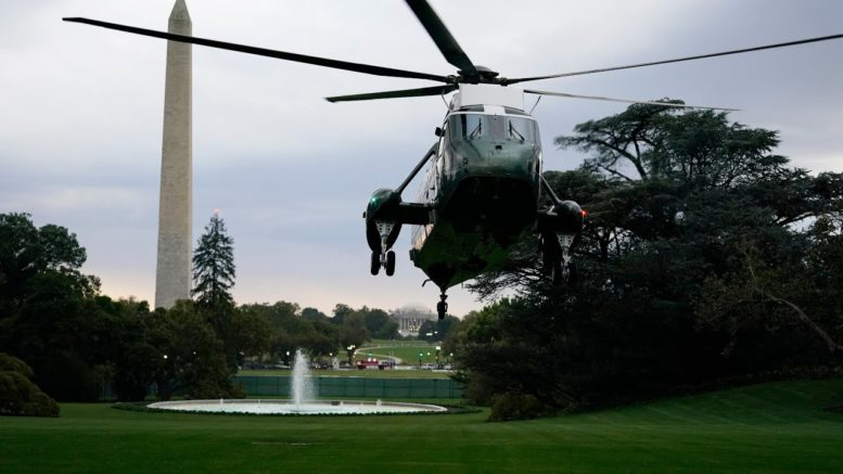 Donald Trump being transferred to Walter Reed Hospital 1