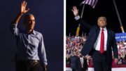 Comparing the message at Trump and Obama's competing campaign rallies 4