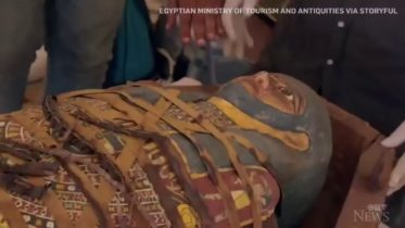 Egypt unveils newly found ancient artifacts from Saqqara, including wooden coffins and statues 6