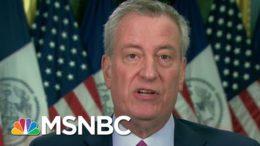 De Blasio: NYC Positivity Rate Below Three Percent | Morning Joe | MSNBC 9