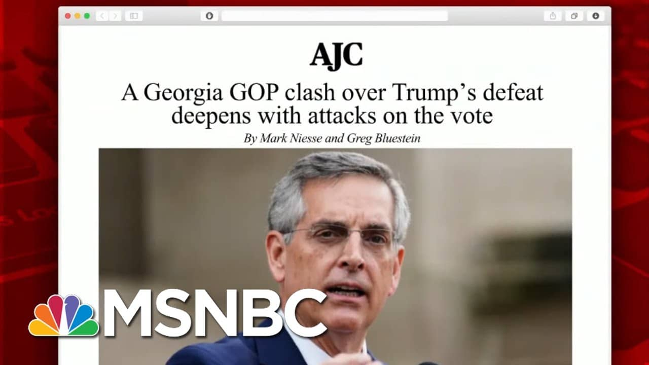 Georgia Secretary Of State Says He's Come Under Pressure From GOP   Morning Joe   MSNBC 9