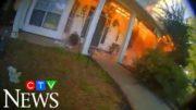 Arkansas officer runs into burning house 3