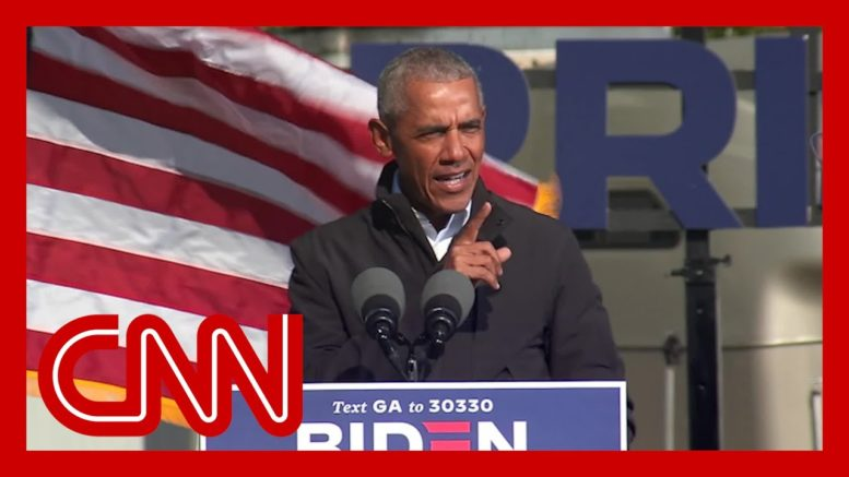 Obama delivers scathing takedown of Trump at unscheduled Georgia rally 1