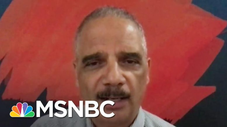 Eric Holder Says GOP Voter Suppression Efforts Are 'Anti-Democratic, Anti-American'   The ReidOut 1