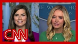 Hear Kayleigh McEnany's reason for not taking a question from CNN's Kaitlan Collins 1