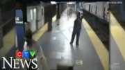 Woman survives being pushed in front of NYC subway train 5