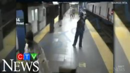 Woman survives being pushed in front of NYC subway train 1