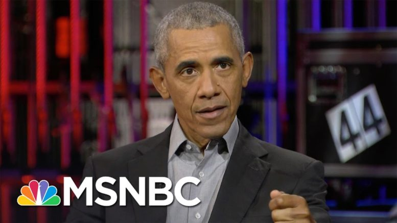 Obama: Hard To Bring Country Together While Trump Continues To 'Fan Division' | MSNBC 1