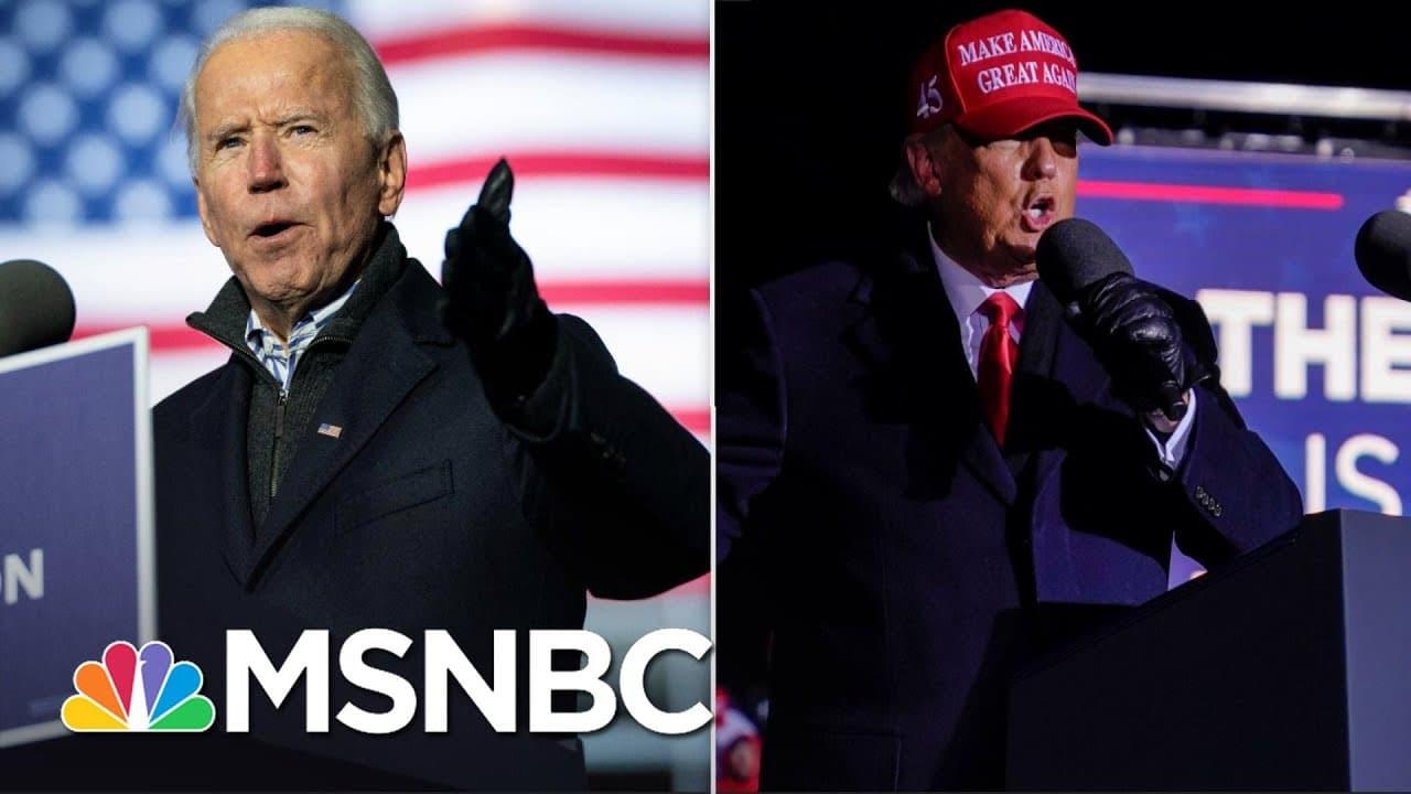 Biden Puts Combative Trump On Defense In Campaign's Last Day | The 11th Hour | MSNBC 1