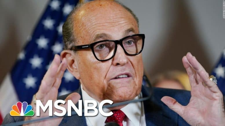 Giuliani Pushes Unproven Claims Of Voter Fraud On Thursday‌ | Morning Joe | MSNBC 1