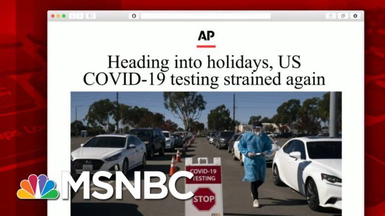U.S. Testing Sites Report Long Lines, Hours Of Waiting   Morning Joe   MSNBC 1