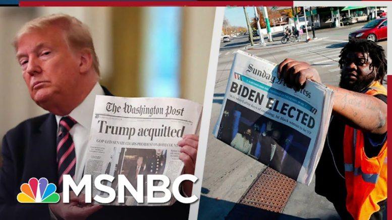 Senators Who Urged Voters To Decide Impeachment Won't Admit Trump Lost The Election | All In | MSNBC 1