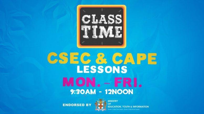 CAPE & CSEC Lessons 9:45AM-12PM | Educating a Nation - November 20 2020 1
