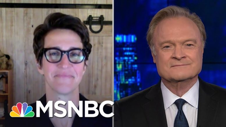 Lawrence O'Donnell Thanks Rachel Maddow For Her Powerful Covid-19 Message | The Last Word | MSNBC 1