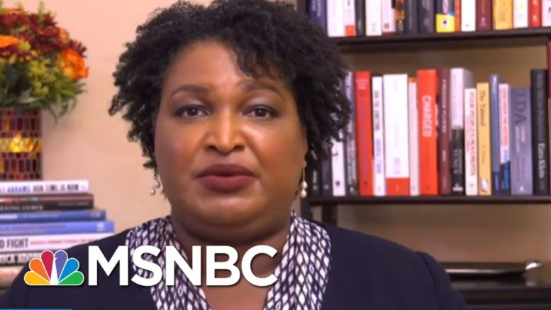 Stacey Abrams: Don't Panic And Don't Leave The Polling Lines | All In | MSNBC 1