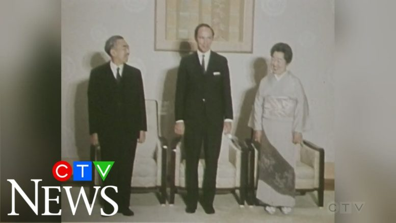 1970: Pierre Trudeau meets with Japanese prime minister 1