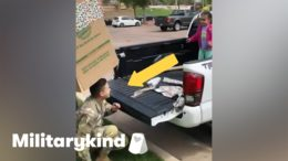 Soldier jumps out of box to surprise daughter | Militarykind 1