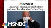 Biden Team Set To Announced First Cabinet Picks | Morning Joe | MSNBC 2