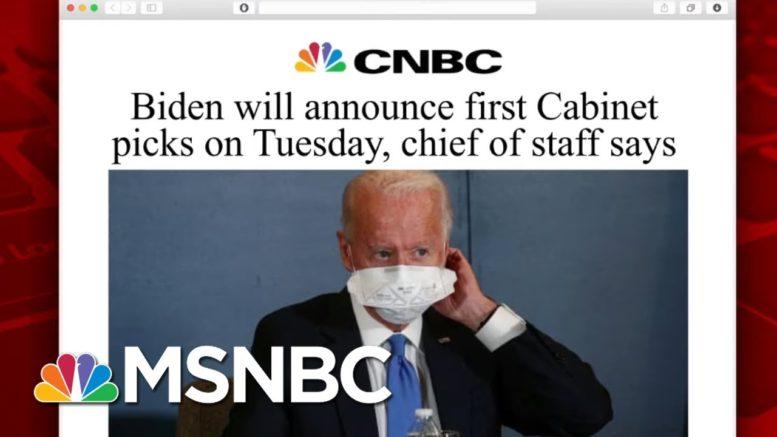 Biden Team Set To Announced First Cabinet Picks | Morning Joe | MSNBC 1