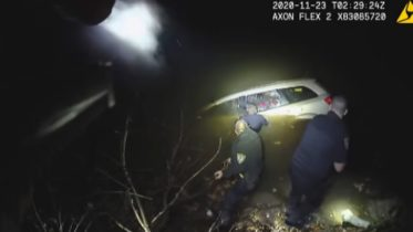 Officers in Ohio rescue woman trapped in her submerged van 5