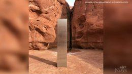 Helicopter crew discovers metal monolith in Utah desert 8