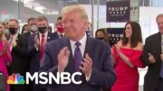 President Trump Visits His Campaign Headquarters To Thank Staff | MTP Daily | MSNBC 4