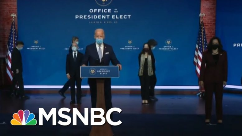 Robert Gibbs Talks Biden Cabinet: They Underscored 'Truth Telling,' 'Science' | Katy Tur | MSNBC 1