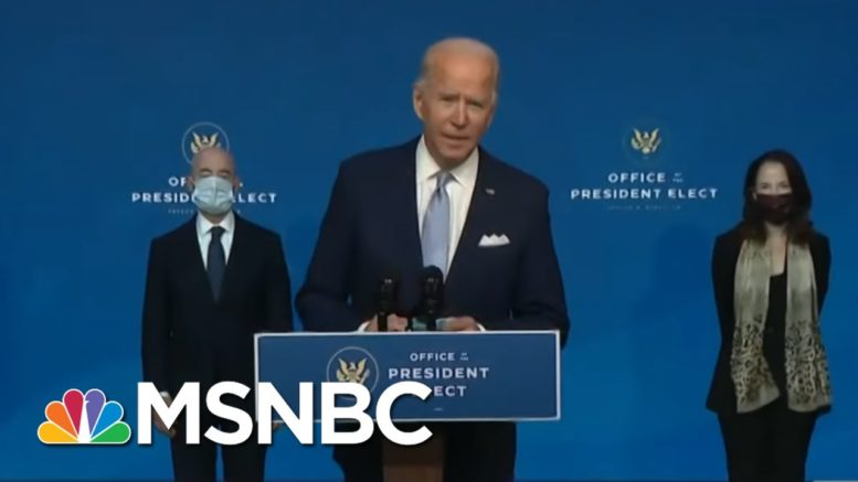 President-Elect Biden Announces His Cabinet Picks   Morning Joe   MSNBC 1