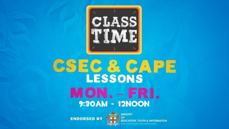 CAPE & CSEC Lessons 9:45AM-12:PM   Educating a Nation - November 25 2020 1