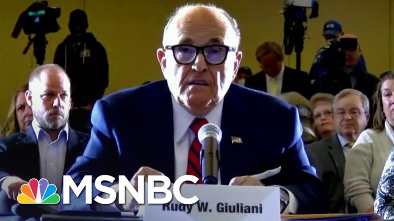 PA Lt. Governor To Trump Lawyer Giuliani: Where's The Voter Fraud? | The 11th Hour | MSNBC 1