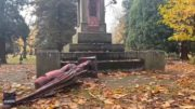 Statues vandalized on U.S. Thanksgiving 3