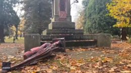 Statues vandalized on U.S. Thanksgiving 1