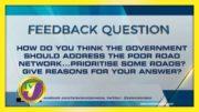 TVJ News: Feedback Question - November 26 2020 4