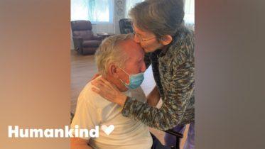 Couple joyously reunite after 215 days apart | Humankind 6