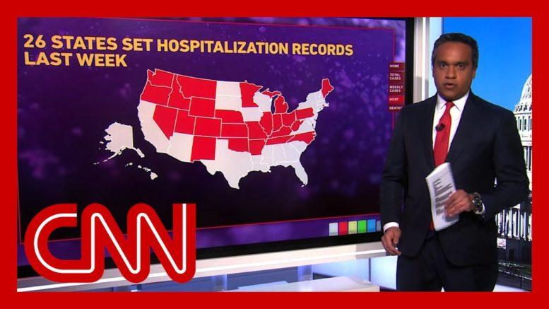 26 states set records for coronavirus hospitalizations Thanksgiving week 1