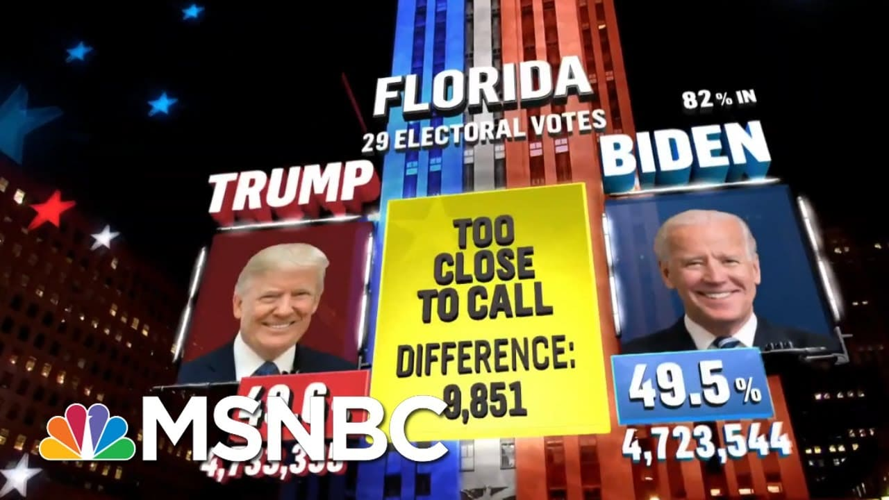 Biden Wins DE, MD, NJ, MA, DC While Trump Carries Oklahoma, NBC News Projects | MSNBC 5