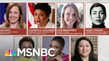 Kamala Harris Says All-Female WH Communications Team Is 'Barrier-Shattering' | MSNBC 6