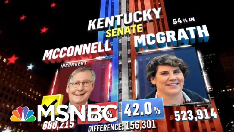 Mitch McConnell Expected To Win Kentucky Senate Race, NBC News Projects | MSNBC 1