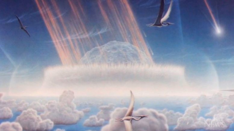 Were dinosaurs facing extinction before an asteroid hit the earth? 1